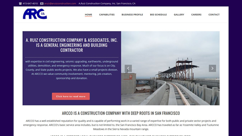 Custom general contractor website design san francisco bay for Design companies in san francisco