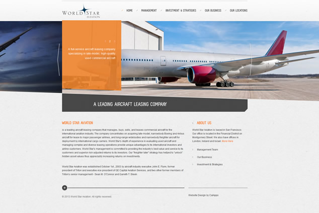 custom websites for aviation and leasing companies